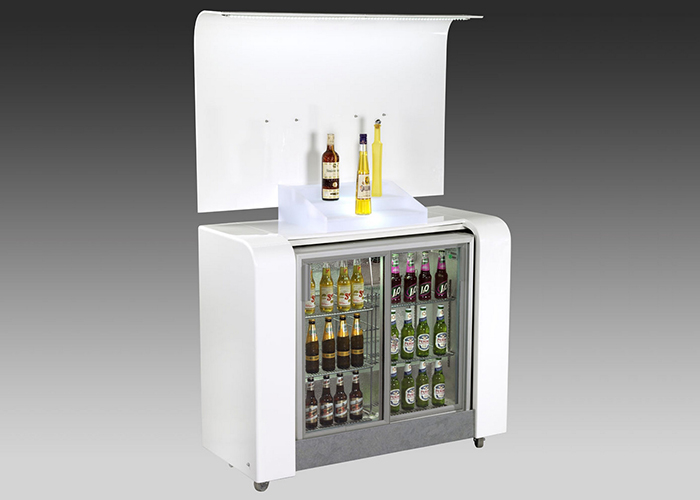 White Portable Back Bar