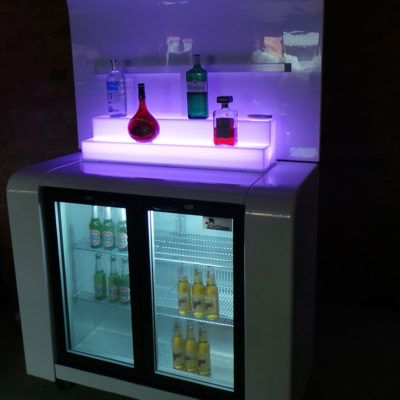 Refrigerated White Back Bar