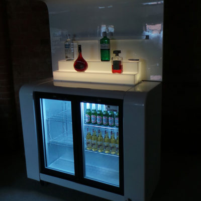 Back Bar with Lighted Step