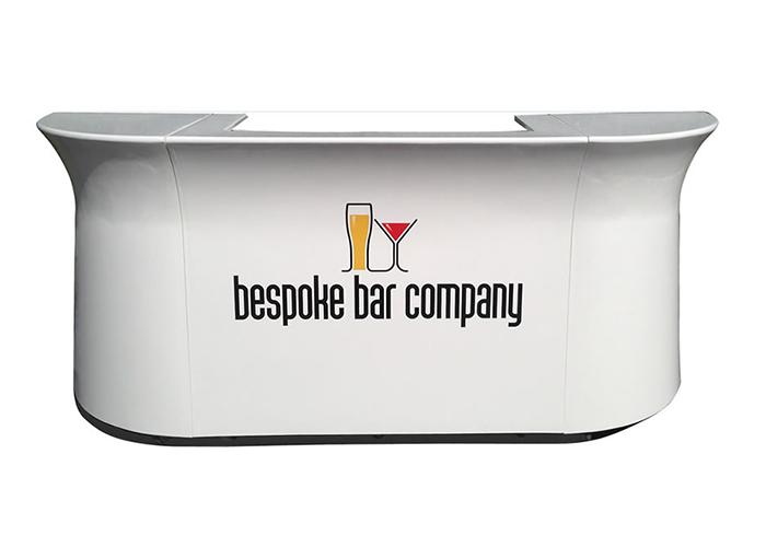 Bespoke White Galaxy Mobile Bar