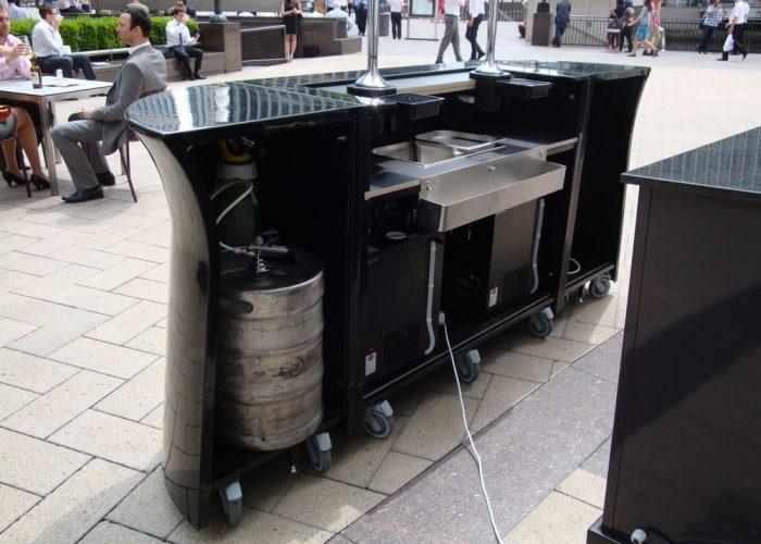 Outdoor Galaxy Mobile Bar, rear view