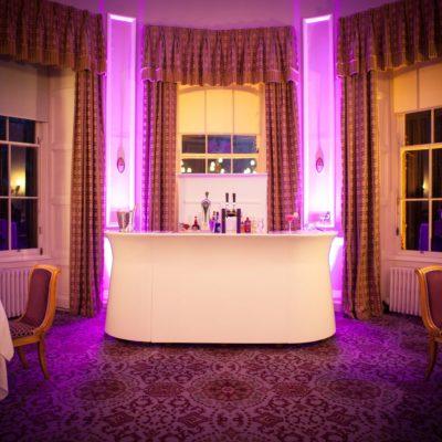 Garden-Room-The-Malton White Mobile Bar