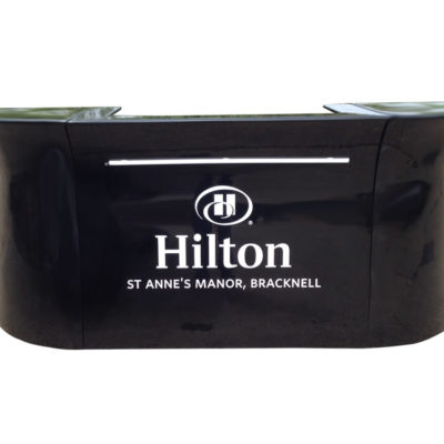 Hilton black portable bar