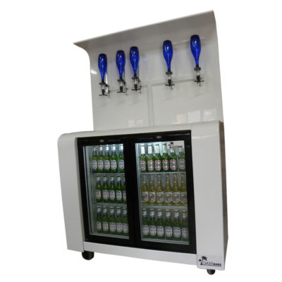 Oasis White Mobile Back Bar