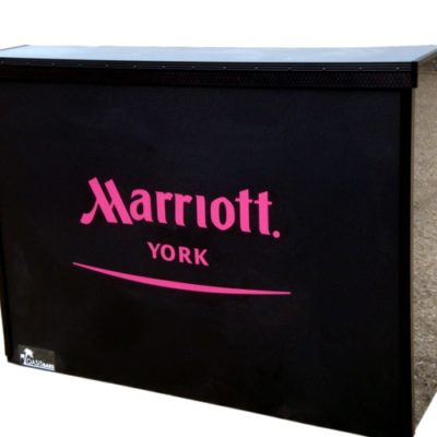 Marriott Hotels Black pop-up bar
