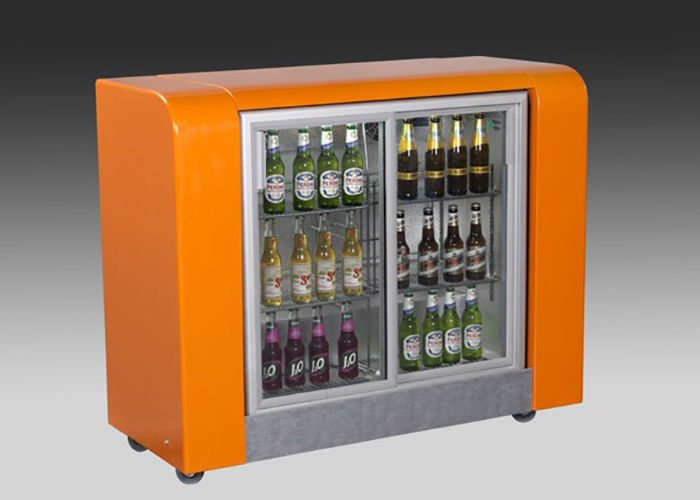 Mobile Orange Back-Bar-Base Unit