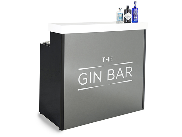 Mobile gin bar grey