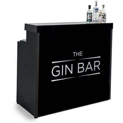 Portable black gin bar for sale