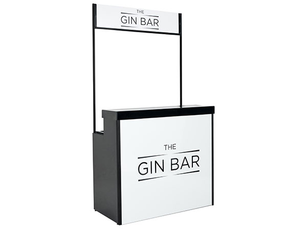 Portable Gin Bar with Canopy