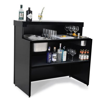 Mobile gin bar stocked