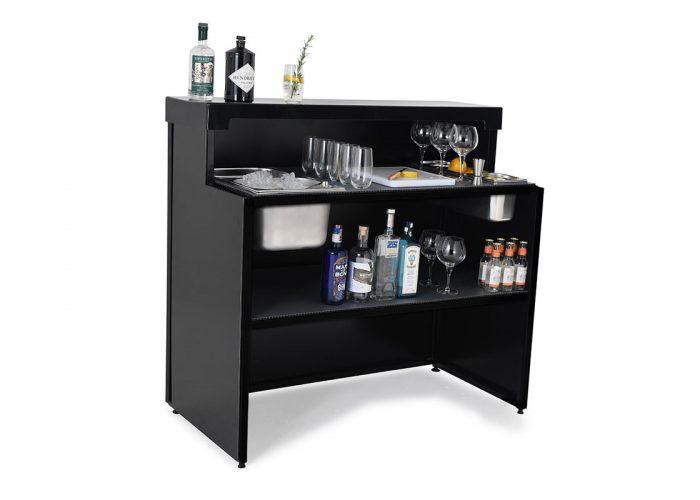Mobile gin bar stocked