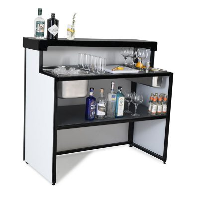 Mobile gin bar white