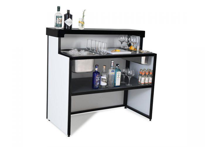 Mobile gin bar white