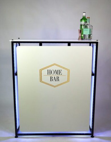 Home bar with logo